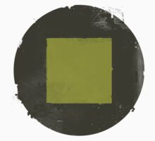Golden Square on a Black Circle by 1350PXL