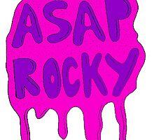 ASAP ROCKY PINK PURPLE SLIME DRIP by SourKid