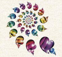 Rainbow Heart Wheel by Pam Blackstone