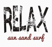 Relax Sun Sand Surf (red) Kids Tee