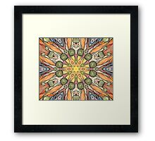 Abstract fantastic plant pattern  Framed Print