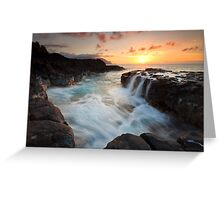 Na Pali Sunset Greeting Card