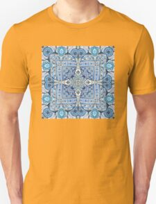 Blue flowers mandala  kaleidoscope Unisex T-Shirt