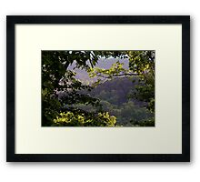Morning Light in the Mountains Framed Print