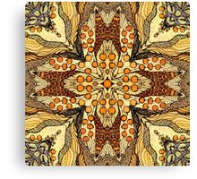 Abstract kaleidoscope patern with apple Canvas Print
