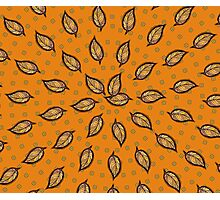Pattern with autumn leaf Photographic Print