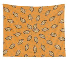 Pattern with autumn leaf Wall Tapestry