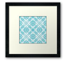 Abstract blue pattern Framed Print