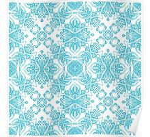 Abstract blue pattern Poster