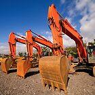 Excavators. by cloud7