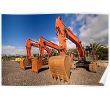 Excavators. Poster