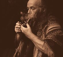 ancient ways, sacred smoke... by Allan  Erickson