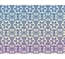 Blue Star pattern Photographic Print