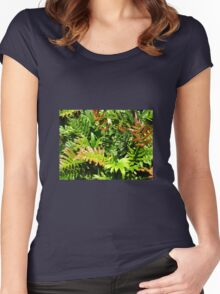 Blechnum cartilagineum - known as the Gristle Fern or Soft Water Fern Women's Fitted Scoop T-Shirt