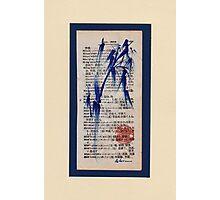 Meditation - Zen Bamboo brush painting Photographic Print