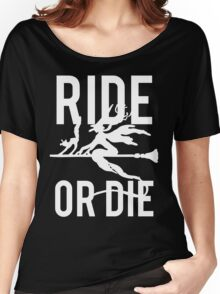 Ride or Die Witch Halloween Women's Relaxed Fit T-Shirt