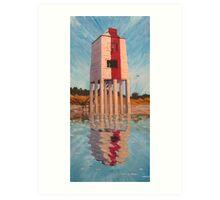 """Old Faithful"" - Beach Lighthouse, Burnham-on-Sea, Somerset Art Print"