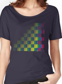 Fading Squares Women's Relaxed Fit T-Shirt