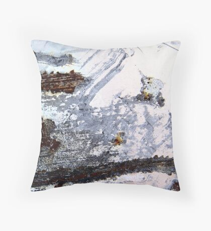 Rusty Snowstorm Throw Pillow