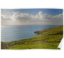 Clouds over the Atlantic ocean. Poster