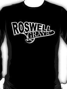 Roswell Grays Baseball Shirt White Logo T-Shirt