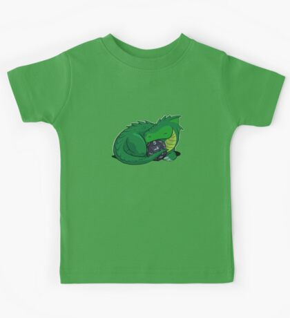 D20 Green Dragon Kids Tee