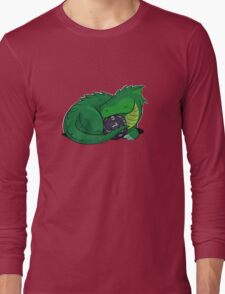 D20 Green Dragon Long Sleeve T-Shirt