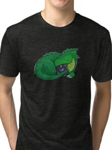 D20 Green Dragon Tri-blend T-Shirt