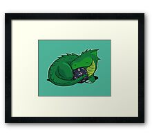 D20 Green Dragon Framed Print