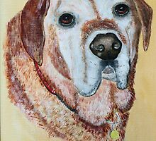 Golden Labrador Retriever by Woodie