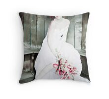 Autumn Bride Punked up Throw Pillow
