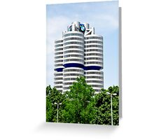 BMW Building Munich Germany Greeting Card