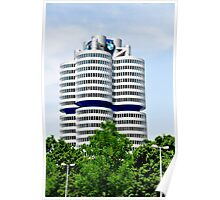BMW Building Munich Germany Poster