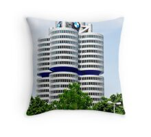 BMW Building Munich Germany Throw Pillow