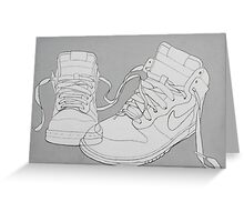 Nike boots Greeting Card