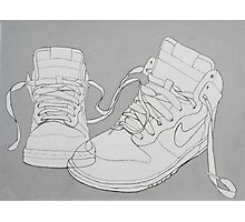 Nike boots Photographic Print