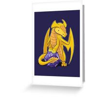 D20 Gold Dragon Greeting Card