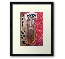 Osama bin laden Portrait  Framed Print