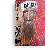 Osama bin laden Portrait  Metal Print