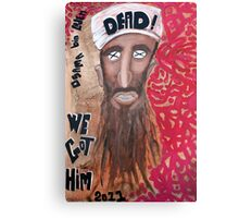 Osama bin laden Portrait  Canvas Print
