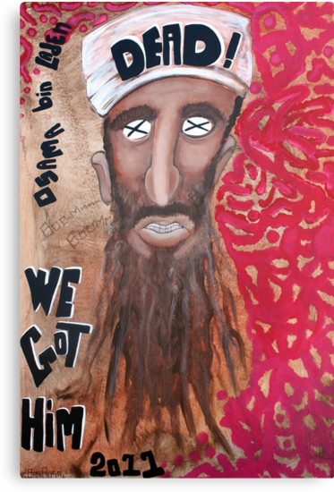 Osama bin laden Portrait  by Laura Barbosa