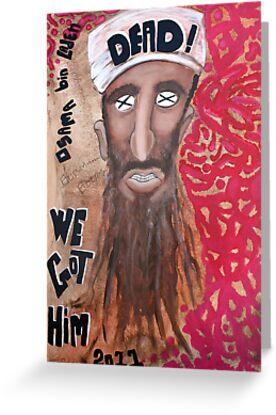 Osama bin laden Portrait  by Laura Barbosa