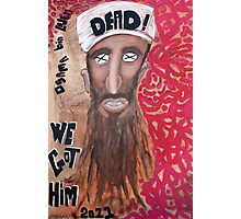 Osama bin laden Portrait  Photographic Print