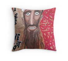 Osama bin laden Portrait  Throw Pillow