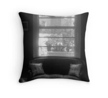 The Kissing Chair  Throw Pillow