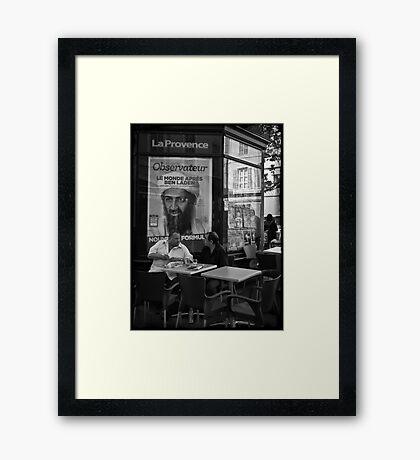 """Ben Laden"" Framed Print"