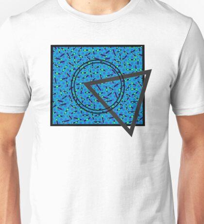 90s Pattern Shapes (Blue) Unisex T-Shirt
