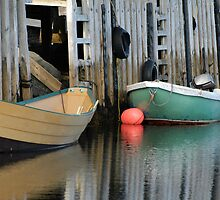 Nova Scotia - Fishing Boats by Anne Sidnell