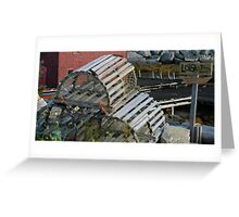 Lobster Traps for Sale ... Nova Scotia Greeting Card