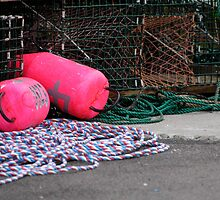 Lobster Trap Markers ... Nova Scotia by Anne Sidnell